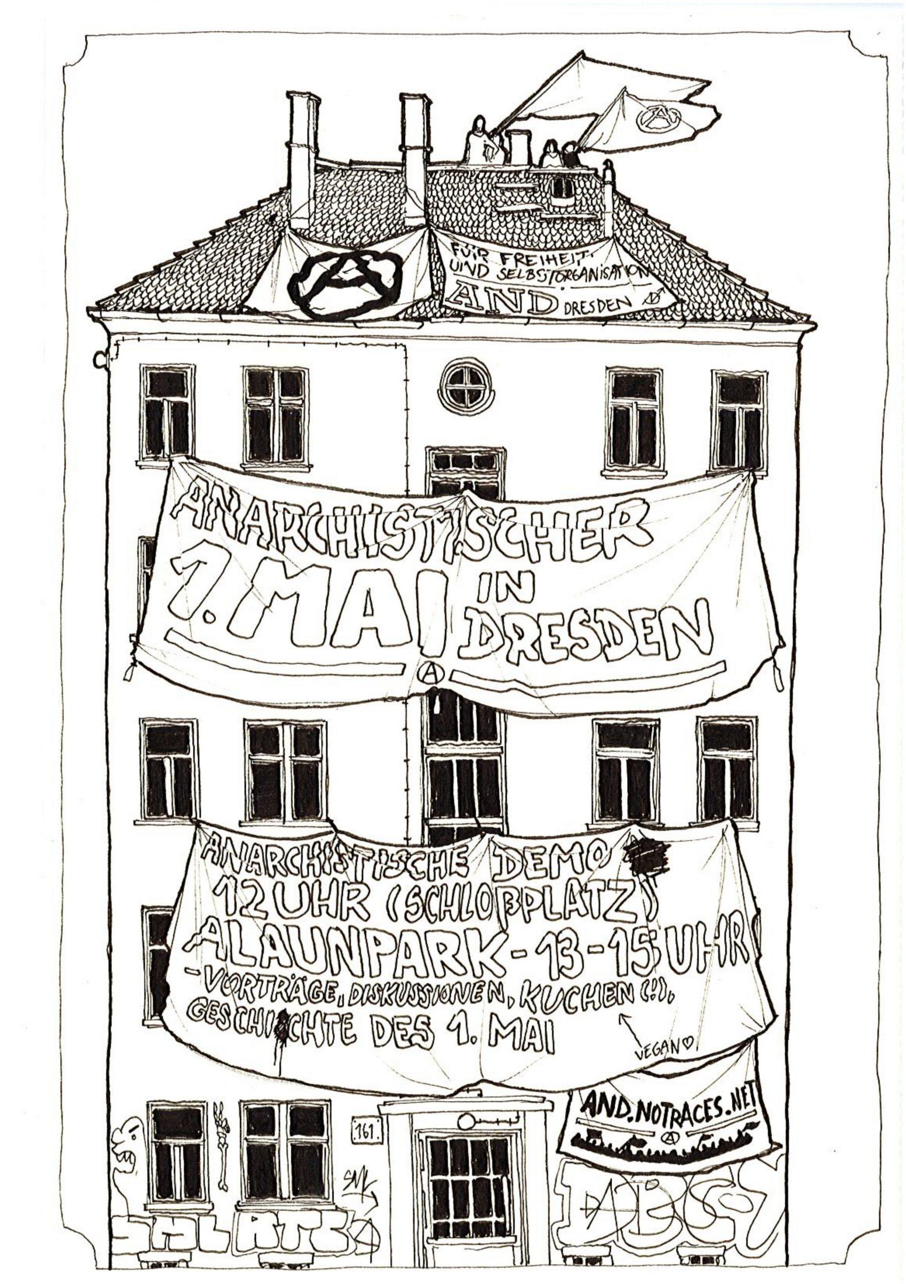 Anarchistischer 1. Mai Dresden