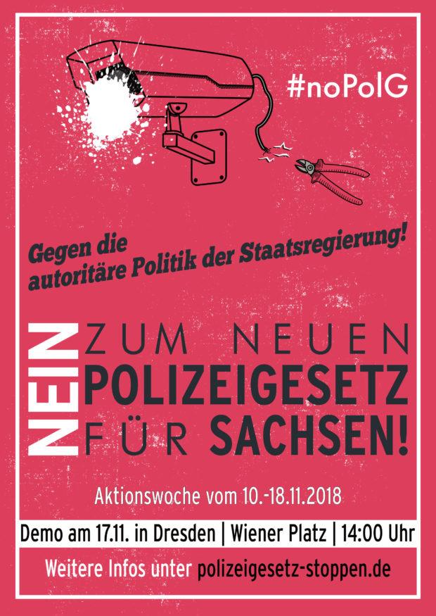 Aufruf zu Aktionstagen gegen das Polizeigesetz 10.-18.11.2018