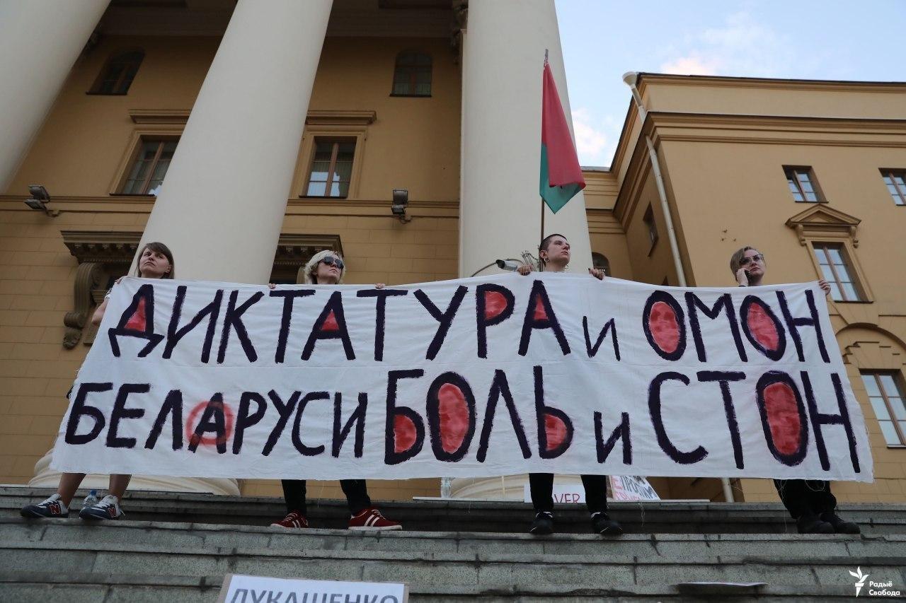 Größte Demonstration in der Geschichte Belarus