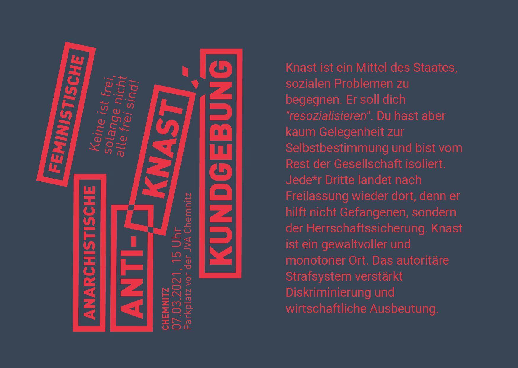 Jingel für Chemnitzdemo und gemeinsame Anreise aus Dresden
